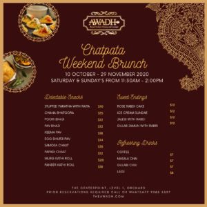 chatpata weekend brunch menu